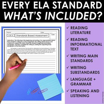 6th Grade ELA Assessments Reading Comprehension - Grammar - Writing