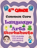 6th Grade Common Core-English Language Arts Worksheets