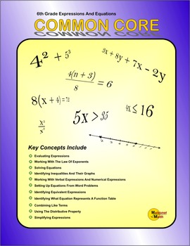 6th Grade Common Core Expressions And Equations Practice Booklet