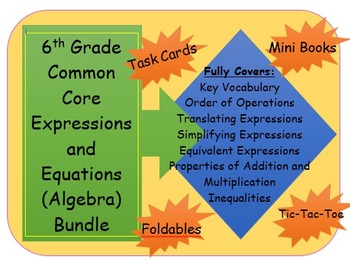 6th Grade Common Core Expressions and Equations (Algebra)