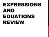 6th Grade Common Core Expressions and Equations Review PowerPoint
