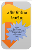 6th Grade Common Core Fraction Mini Book