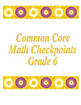 6th Grade Common Core GCF and LCM checkpoint