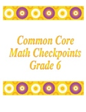 6th Grade Common Core GCF and LCM checkpoint
