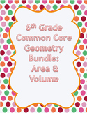 6th Grade Common Core Geometry Bundle - Area and Volume
