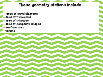 6th Grade Common Core Geometry Stations