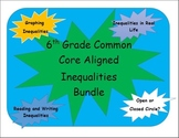 6th Grade Common Core Inequalities Bundle and Interactive Journal