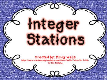 6th Grade Common Core Integer Stations