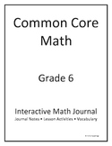 6th Grade Common Core Interactive Math Journal