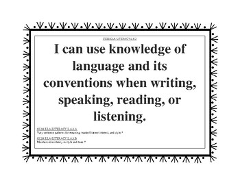 6th Grade Common Core Language Arts Standards CCSS