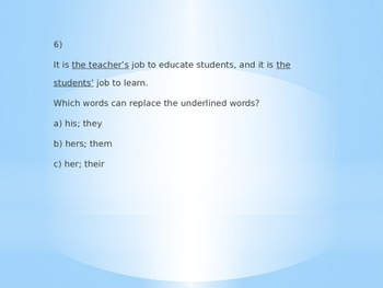 6th Grade Common Core Language Arts Task Cards 1-20