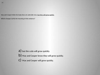 6th Grade Common Core Language Arts Task Cards 21-40