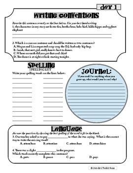 6th Grade Common Core Language Arts Workbook - Independent literacy activities