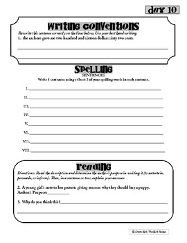 6th Grade Common Core Language Arts Workbook - Independent literacy activities
