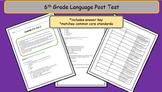6th Grade Common Core Language Post Test - A