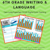 6th Grade Common Core Language & Writing Paperless Assessment and Data Tracker
