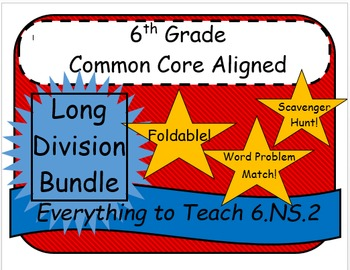 6th Grade Common Core Long Division Bundle