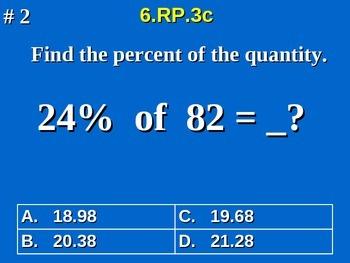 6th Grade Common Core Math 6.RP.3c Finding Percent Of A Quantity