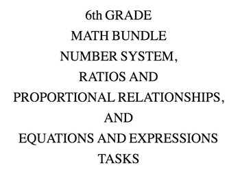 6th Grade Common Core Math Bundle 6EE, 6NS, & 6PR