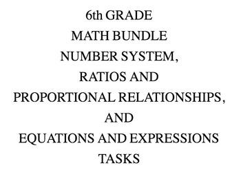 6th Grade Common Core Math Bundle 6EE, 6NS, & 6PR