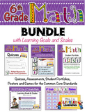 6th Grade Math Bundle with Learning Goals and Scales - EDITABLE