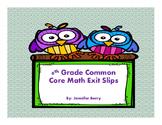 6th Grade Common Core Math Exit Slips