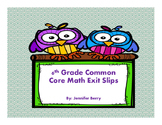6th Grade Common Core Math Exit Slips