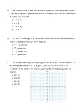 6th Grade Common Core Math Final Assessment