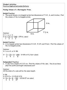 6th Grade Common Core Math Lesson Plans 6G.2