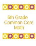 6th Grade Common Core Math Mastery Sheets