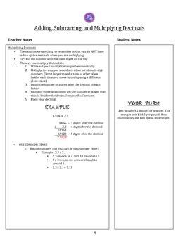 6th Grade Common Core Math Notes