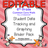 Student Data Tracking Binder | Data Graphing: 6th Grade Math *EDITABLE*