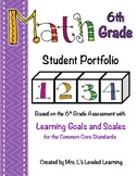 6th Grade Common Core Math Student Portfolio with Marzano Scales!