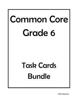 6th Grade Common Core Math Task Cards Bundle