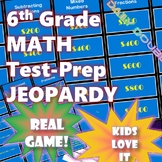 6th Grade Common Core Math-Test Prep Jeopardy (CAASPP, Smarter Balanced)