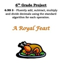 6th Grade Common Core Math Thanksgiving Project
