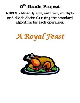 6th Grade Common Core Math Thanksgiving Project
