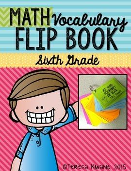 6th Grade Common Core Math Vocabulary Flip Book