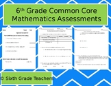 6th Grade Common Core Mathematics Assessments & Keys