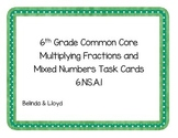 6th Grade Common Core Multiplying Fractions and Mixed Numb