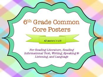 6th Grade Common Core Posters