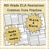6th Grade Common Core Practice ALL 17 Reading Standards