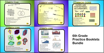 6th Grade Common Core Practice Bundle