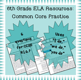 6th Grade Common Core Practice - RI.6.7 - 3 mini-lessons