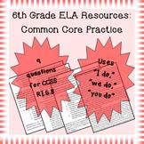 6th Grade Common Core Practice - RI.6.8 - 3-5 mini-lessons