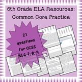 6th Grade Common Core Practice - RI.7, 8, 9: Integration of Knowledge & Ideas