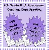 6th Grade Common Core Practice - RI1 RI2 RI3: Key Ideas and Details Cluster
