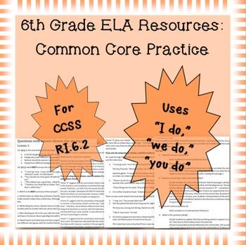 6th Grade Common Core Practice - RI.6.2 - 3 mini-lessons