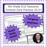 6th Grade Common Core Practice - RL.6.1, 3 mini-lessons