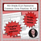 6th Grade Common Core Practice - RL.6.2 - 3-5 mini-lessons